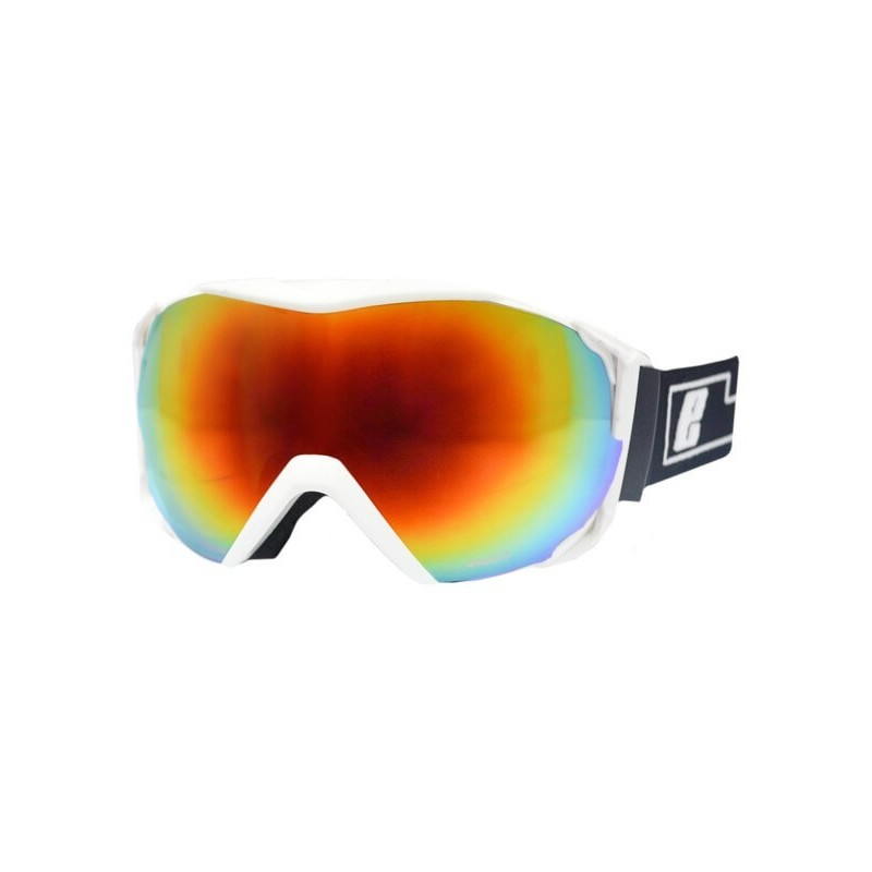 Gafas de Esquí/Snow para Adulto Piton EASSUN, Lente Rojo REVO y Solares CAT 2 con Montura Blanca